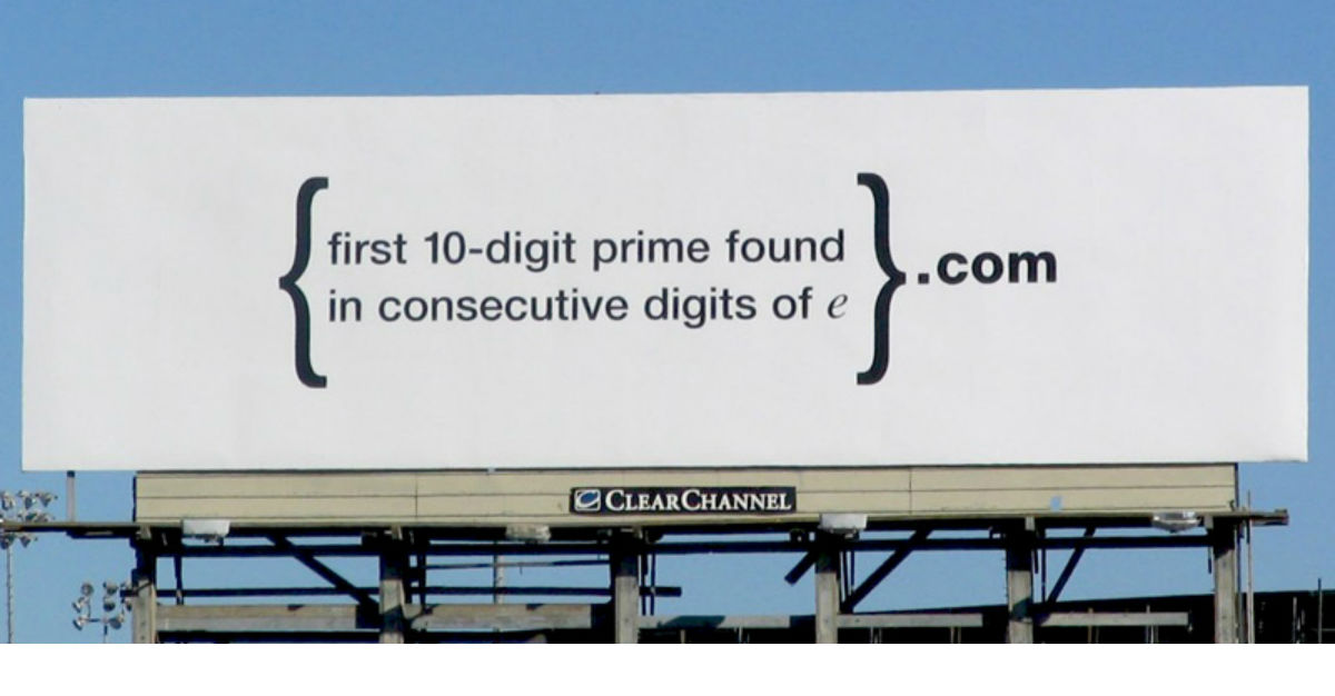 Googles billboard